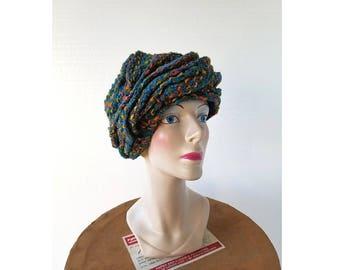 1940s Turban Hat | Slouchy Hat | 40s Hat