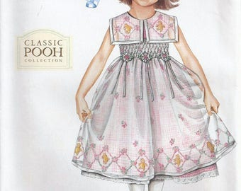 Daisy Kingdom SMOCKED DRESS Sewing Pattern - DK Smocking Classic Winnie the Pooh Collection