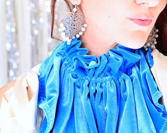Velvet Collar - Victorian Style Fashion Collars - Women's Velvet Neck Warmer - Neckwear Collar with Ruffles - 24 Colors