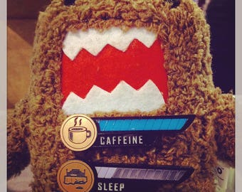Caffeine/Sleep Meter Pins - video game jewelry accessories nerd gifts
