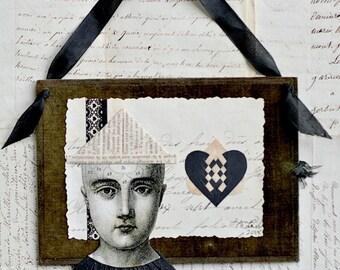 Valentine, French Document, Velvet, Vintage Ribbon, My Funny Valentine, Papercutting, Hearts, Wedding, Engagement, Anniversary, Friend