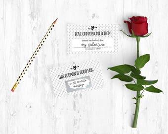 DIY Valentine Coupons   Scratch Off Love Cards   Love Vouchers   Valentine  Gift For Him