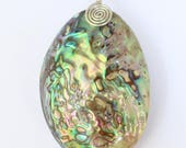 Paua Shell Pendant on Sat...