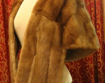 "1960's, 54""x16"", light row (pastel) mink stole."