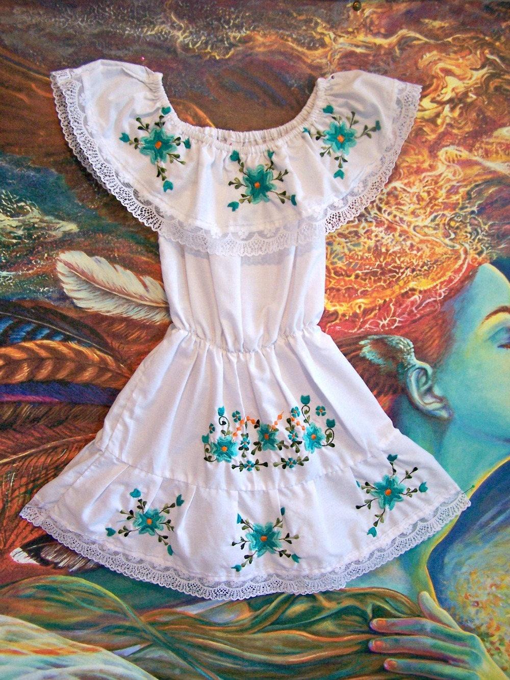 Summer maxi dress boho chic dresses white boho clothing boho clothing mexican  embroidered dress KK1090