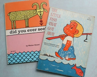 The Little Fish That Got Away & Did You Ever See Vintage Paperback Children's Books