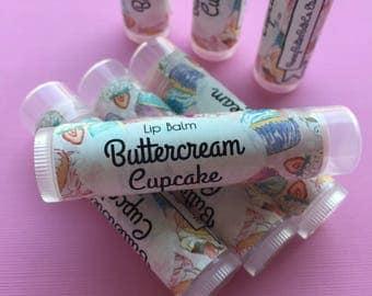 Buttercream Cupcake Lip Balm | Chapstick | Lip Butter | Sweet | Cake | Gift for her | Birthday | Mom | Dessert | Party Favor | Fun | Gift