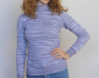 the sheridan -- vintage 70s heathered knit ribbed top XS/S