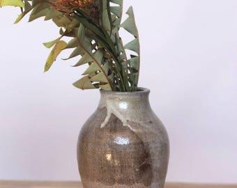 vestige -- vintage 70s ceramic vase with beautiful glaze