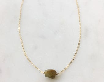Green Garnet Stone Necklace