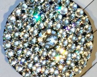 Popsocket made with Clear or Black Diamond Swarovski Crystals