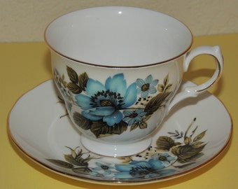 Queen Ann Bone China Cup and Saucer made in England
