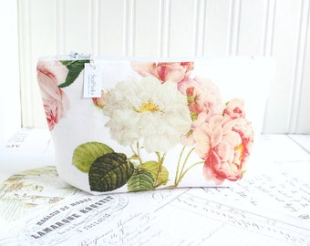 Cosmetic Bag Botanical Makeup Bag Feminine Floral Zipper Pouch Organizer