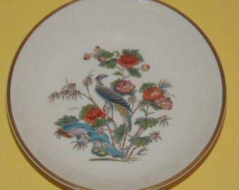 Wedgwood Kutani Crane Bone China Trinket Dish made in England