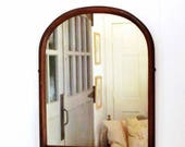 Vintage Arched Top Mirror Tombstone Style Mirror Large Wood Framed Mirror
