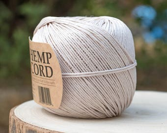 Natural Romanian Hemp Cord,  1mm Hemp Twine, Macrame Cord -T91