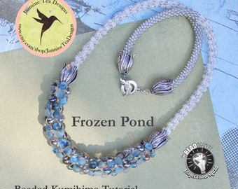 Frozen Pond Beaded Kumihimo Necklace, Supply List And Bead Placement Tutorial