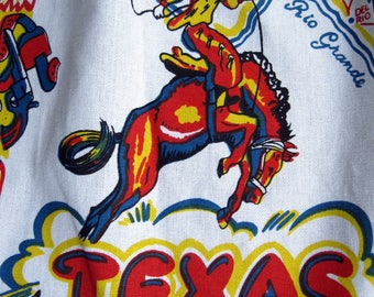 Texas Vintage Apron, Souvenir Apron with Texas State Map, Texas State Apron,Lone Star State Apron,  by mailordervintage on etsy