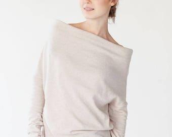 SALE - Chic sweater | Elegant sweater | Minimalist sweater | LeMuse chic cream sweater