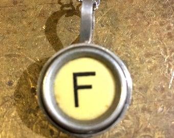 F Typewriter Key Pendant