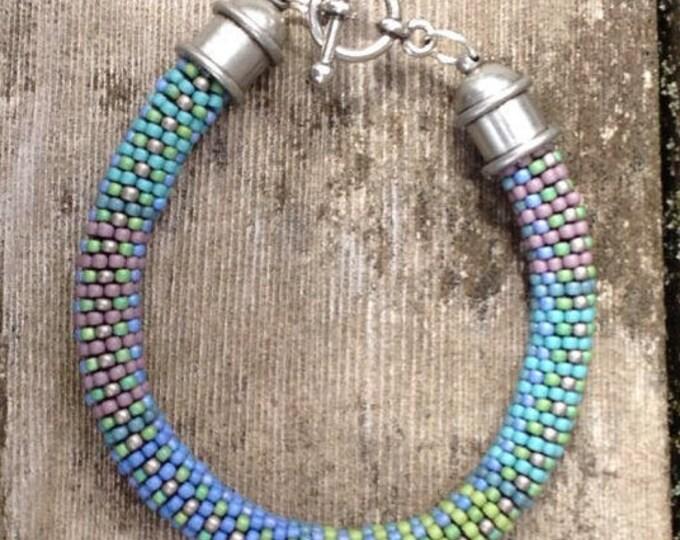 Featured listing image: Fabric Weave No. 6/7 Bead Crochet 7 Patterns and Kit for Toho Semi-Glaze Bracelet
