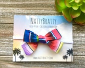 Serape Stripe Fabric Bow Headband - Southwest - Baby Headband - Modern Baby Style - Bow Hairband - Nylon Headband - Baby Girl Gift - Fiesta