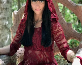 NEW: The Red Queen Tunic Dress by Opal Moon Designs (sizes S-XL)