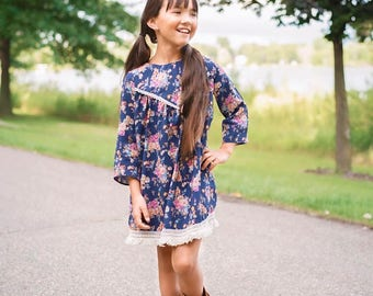Princeton Dress and Top PDF Sewing Pattern, Girls Dress Pattern, Girls Top Pattern