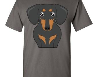 Dachshund Cartoon T-Shirt - Men, Women Ladies, Short, Long Sleeve, Youth Kids Tee dog