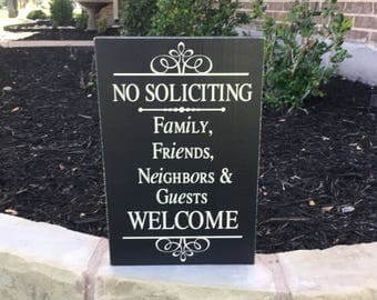 NO SOLICITING ~ Front Door Sign ~ No Solicitation Sign ~ House Warming Gift ~ No Soliciting Door Sign ~ Doorbell Sign ~ No Solicit Sign