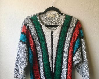 Vintage Abstract 1980s Sweater