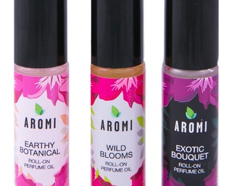 Wild Blooms Roll-on Perfume Oil.  Roll On Perfume. Rollerball perfume.  Floral Perfume.  Fruity Perfume. Gifts for Her.  Perfume Oil. Vegan.