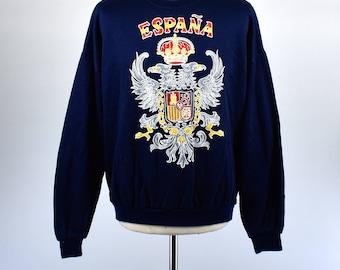 Vintage España Sweatshirt, Spain Sweatshirt