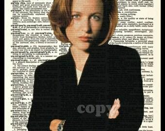 Dana Scully The X-Files Dictionary Art Print