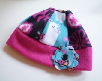 Fleece Llama Messy Bun Hat, Llama Ponytail Hat, Llama Messy Bun Cap, Llama Ponytail Cap, Llama Hat, Fleece Bun Hats