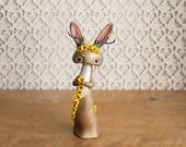 Jackalope Making a Sunflower Chain - Jackalope Figurine by Bonjour Poupette