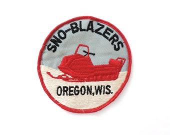Sno-Blazers Snowmobile Patch Oregon WI Vintage
