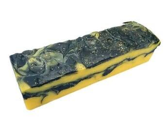 SOAP - 3.5 lb Lemon Chia Handmade Soap Loaf, Wholesale Soap Loaves, Vegan Soap, Cold Processed Soap, Natural Soap, FREE SHIPPING