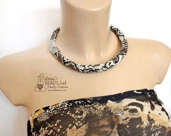 Rattlesnake necklace