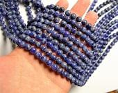 Sodalite - 8mm round beads -1 full strand - 49 beads - RFG14