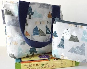 kid bible combo set -- adventure awaits mountains