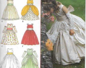 Simplicity Pattern 8953 Princess Wedding Flower Girl  Pageant Style Sewing Pattern Girl's Dress Size 4,5,6,7-, Uncut New
