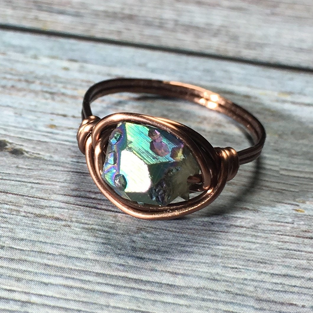 Mens Copper Wire Wrapped Ring - WIRE Center •