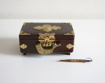Small Chinese Wooden Jewelry Box