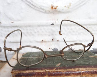 WWII U. S. Army Gas Mask Eyeglasses, Spectacles, Respirator Inserts, Military, Steampunk