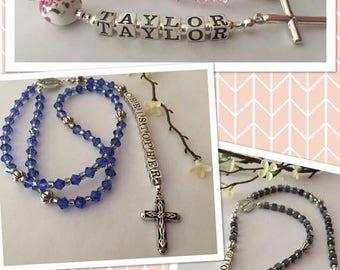 Beautiful Custom Rosaries~ Perfect Communion Gift!