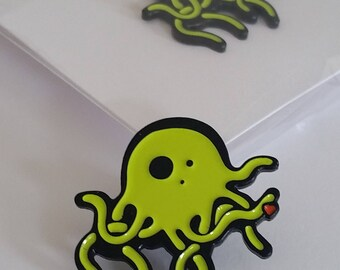 Octopus Enamel Pin