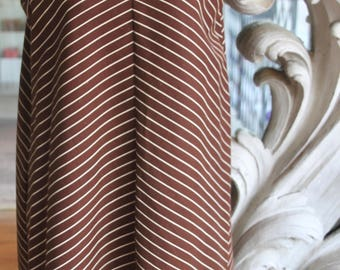 Vintage 1960s Brown Striped Tent Dress