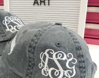 Add On Monogram Embroidery to the Left SIDE of Any Purchased Hat from Our Shop Sewn On