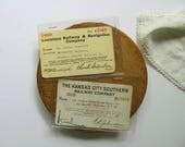 Vintage Railway Pass Railroad Ticket Employee Pass Kansas City Southern and Louisiana Railway Train Ticket Pass Railroad Collection Ephemera